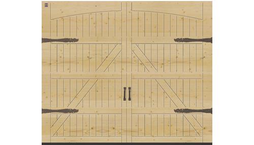 Мотив 405, с фурнитурой распашных ворот «Exklusiv» (опция), северная ель
