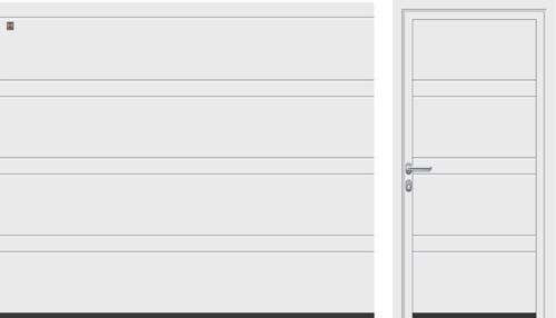 D-гофр (LPU), белого цвета RAL 9016