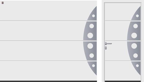 L-гофр (LPU), мотив 458, белого цвета RAL 9016