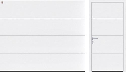 L-гофр (LPU), белого цвета RAL 9016