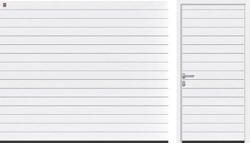 S-гофр (LPU, LTE), белого цвета RAL 9016