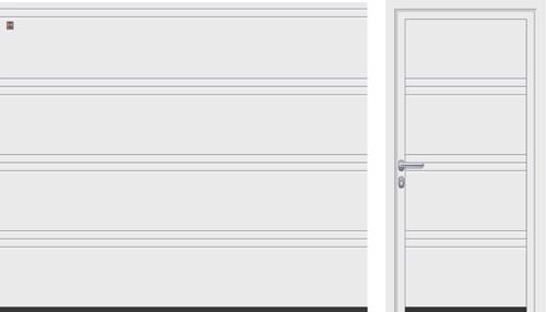 T-гофр (LPU), белого цвета RAL 9016