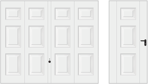 Мотив 971, белого цвета RAL 9016