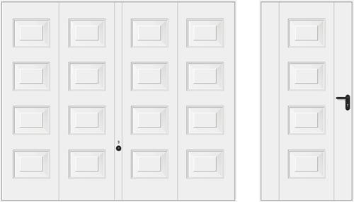 Мотив 973, белого цвета RAL 9016