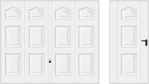 Мотив 977, белого цвета RAL 9016
